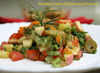 Healthy Salad with Rosemary Dressing