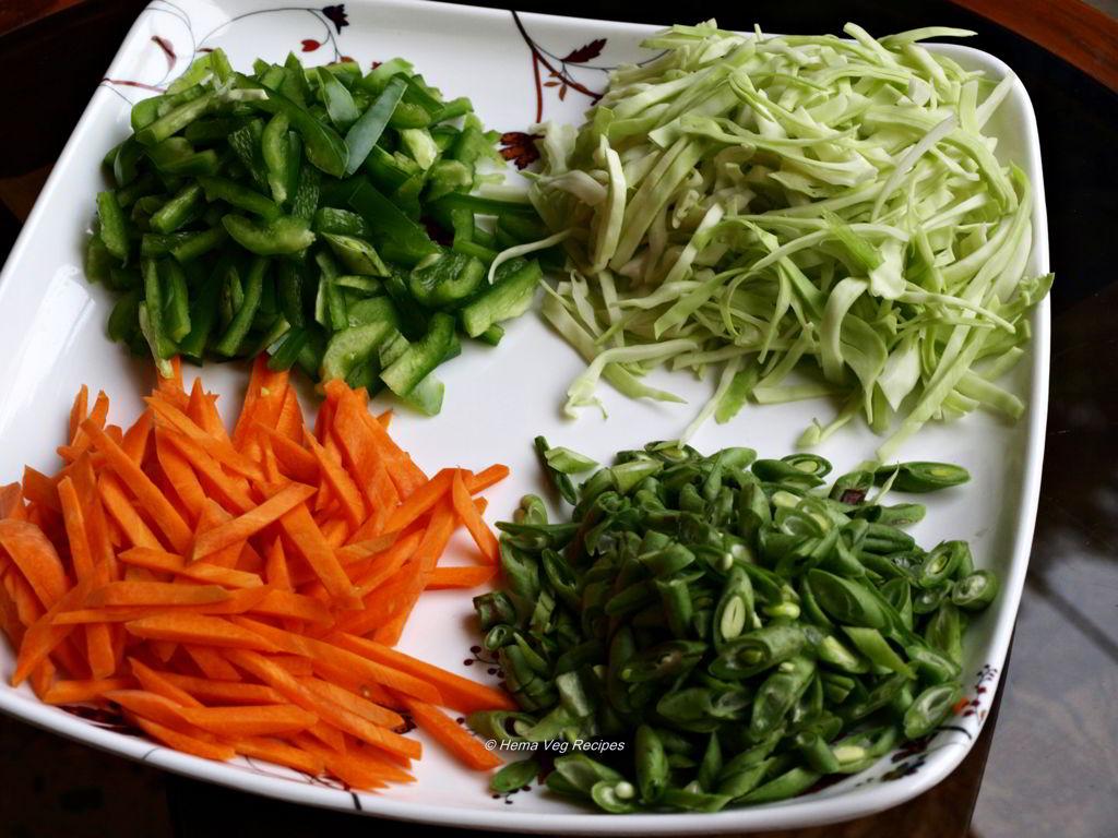 Veg Noodles veggies