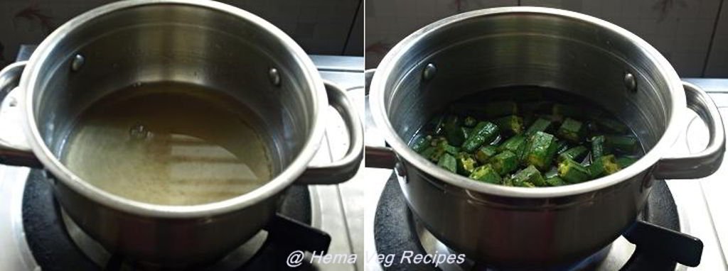 Bendekai Huli or Bhindi Sambar - Using Coconut Preparation