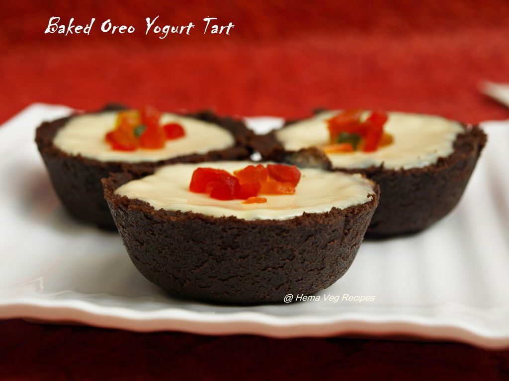 Baked Oreo Yogurt Tart