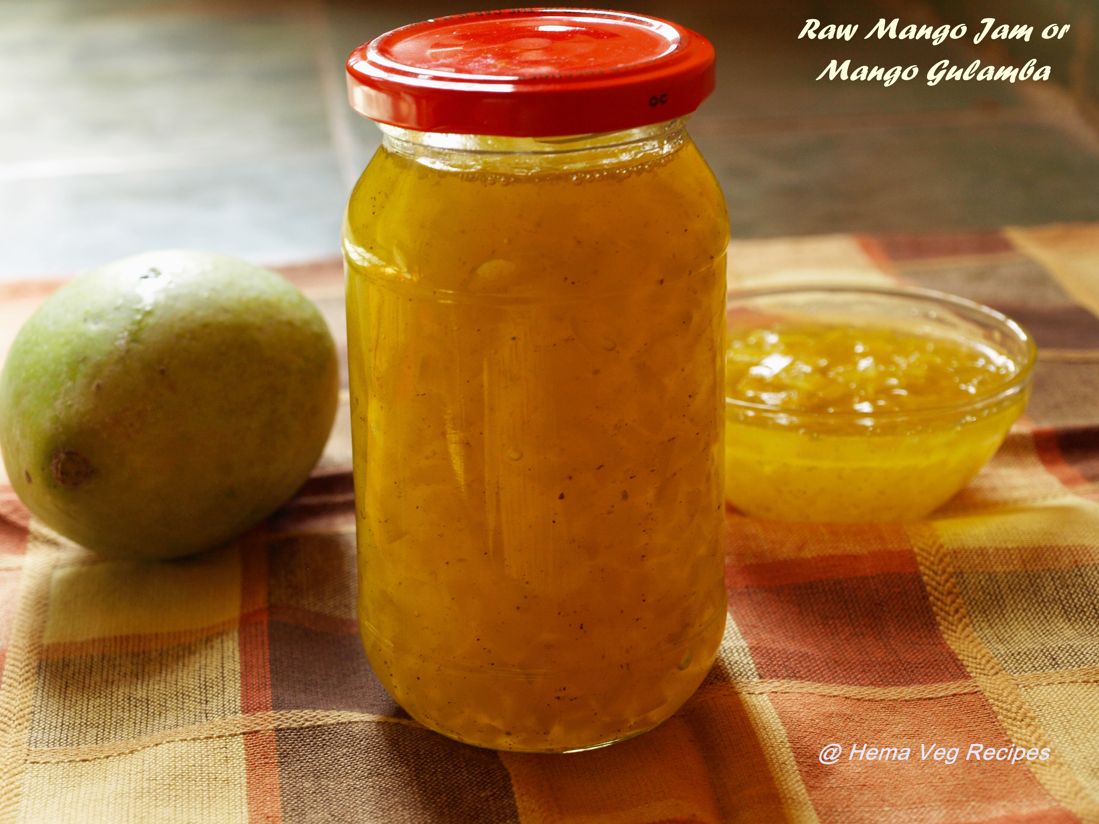 Raw Mango Jam or Mango Gulamba