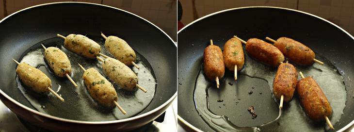 Paneer Seekh Kebab Preparation